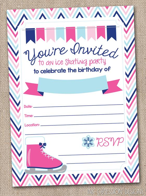skating birthday party invitations printable ; ice-skating-party-invites-skating-party-invitation-template-free-roller-skating-party