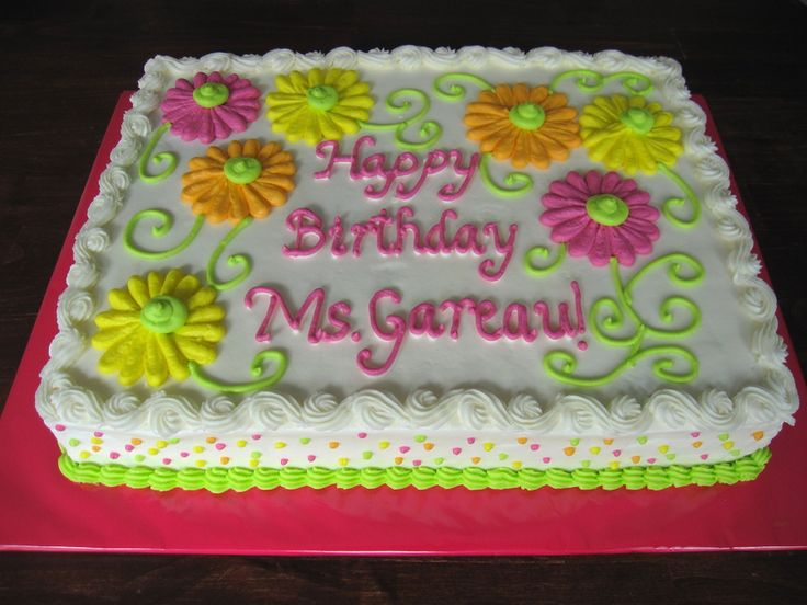 slab birthday cake ideas ; 3523ffb1f30e0c59bc80543cc932bad1--birthday-cake-with-flowers-cute-birthday-cakes