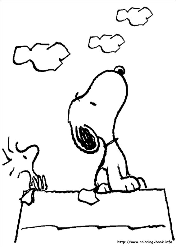 snoopy birthday coloring pages ; snoopy-39