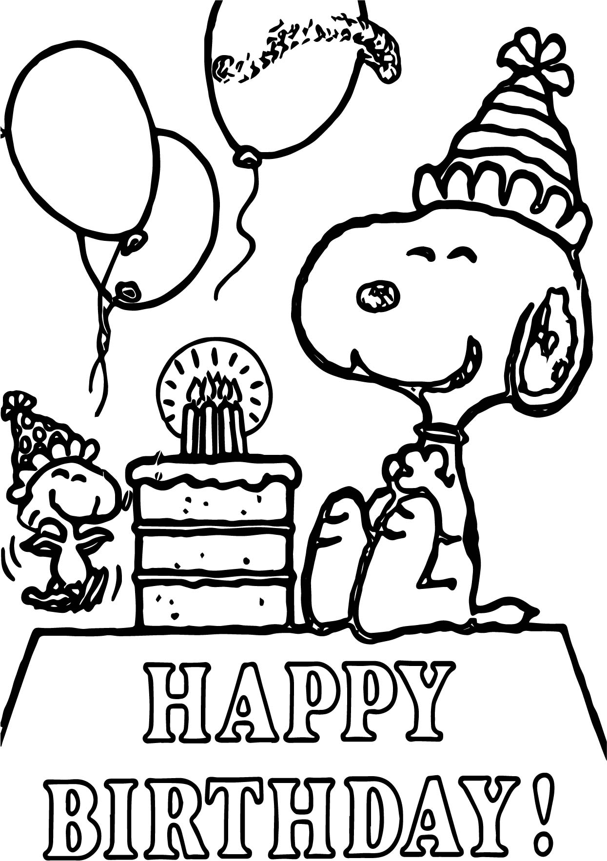 snoopy birthday coloring pages ; snoopy-coloring-pages-birthday-on-peanuts-characters-coloring-pages-adewa-d