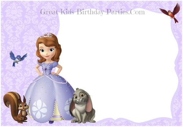sofia the first birthday background ; 6a3c49962b7a739855146d077032f147