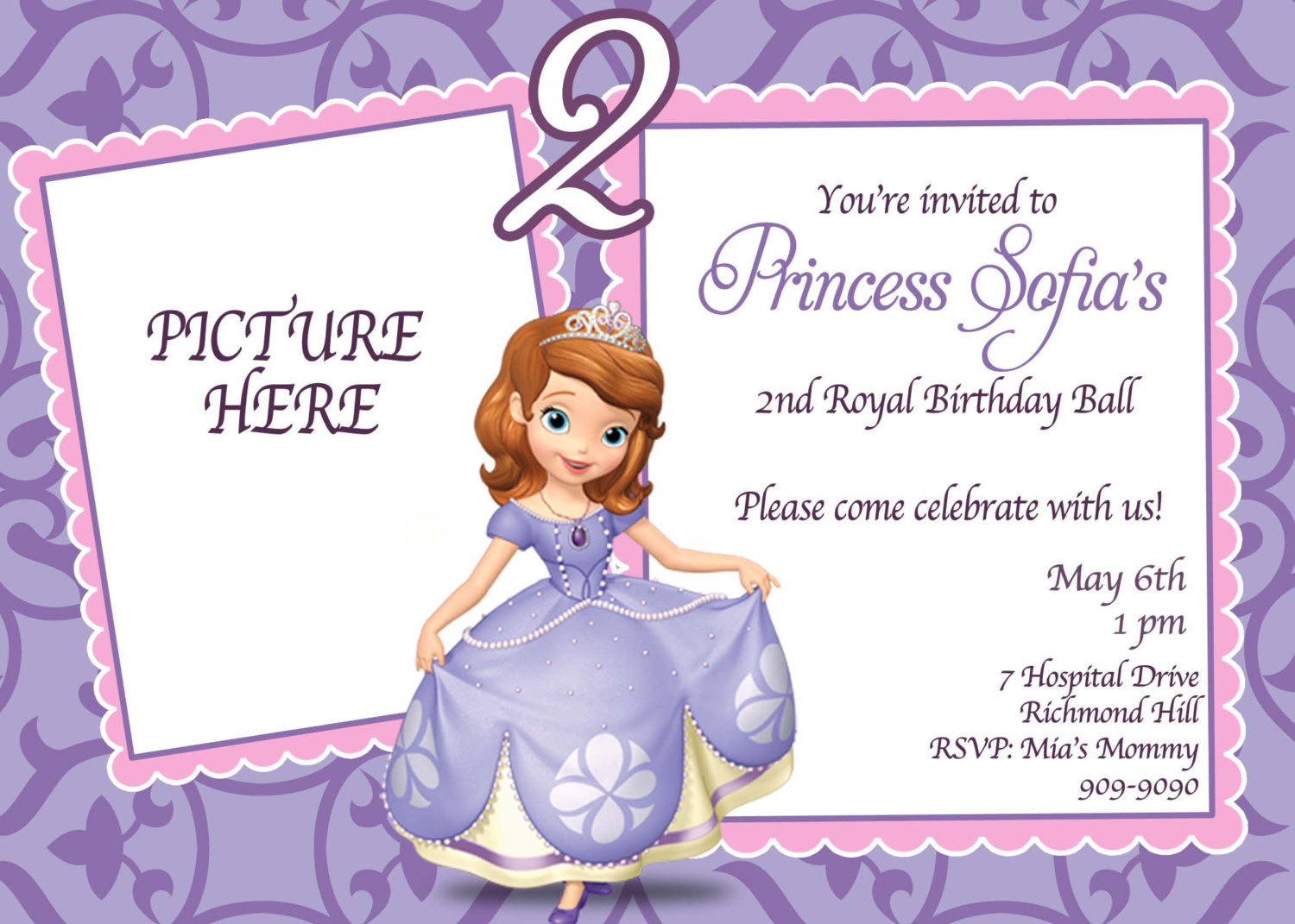 sofia the first birthday background ; Charming-Sofia-The-First-Birthday-Invitations-As-Free-Printable-Birthday-Party-Invitations
