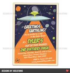 space birthday party invitation wording ; ff7ad1db335944075ea8f007d9368380--alien-party-space-ship