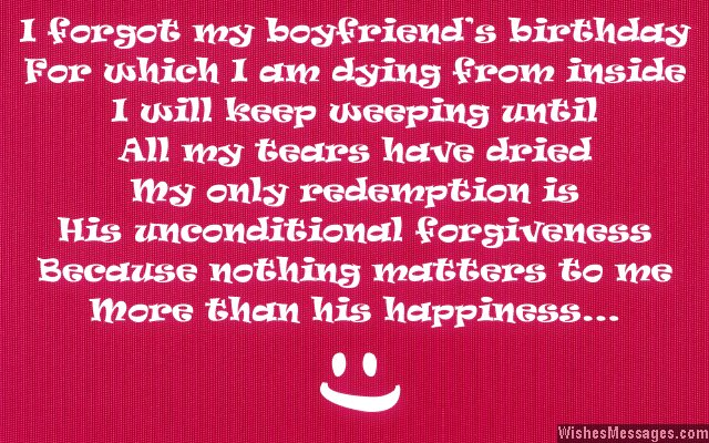 special birthday message for my boyfriend ; Cute-way-to-say-sorry-for-forgetting-boyfriends-birthday