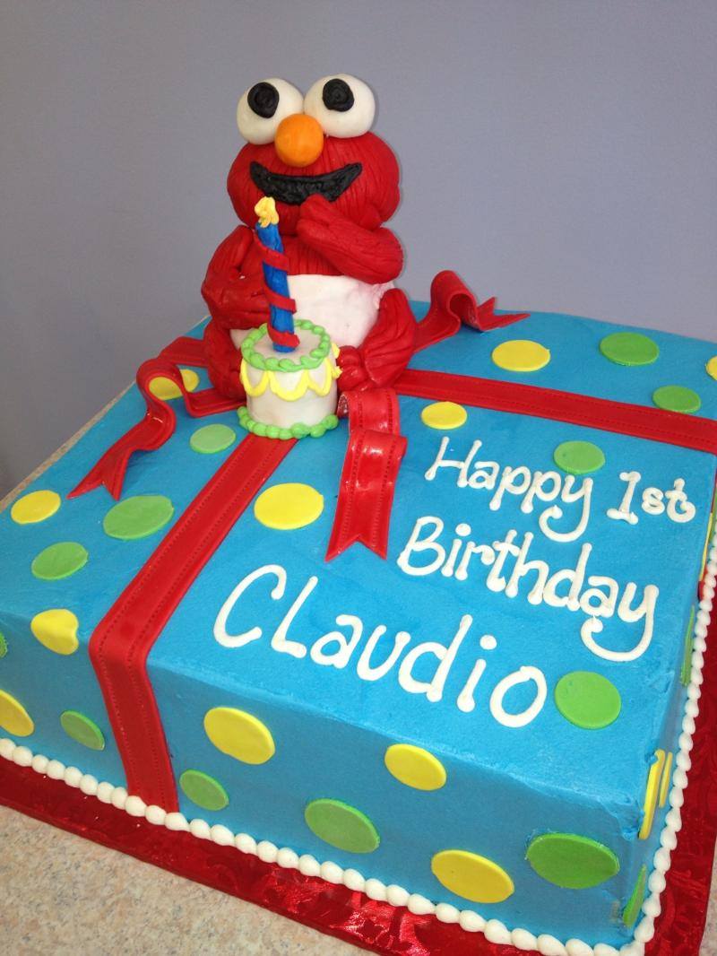 specialty birthday cakes photo gallery ; Elmo_dots