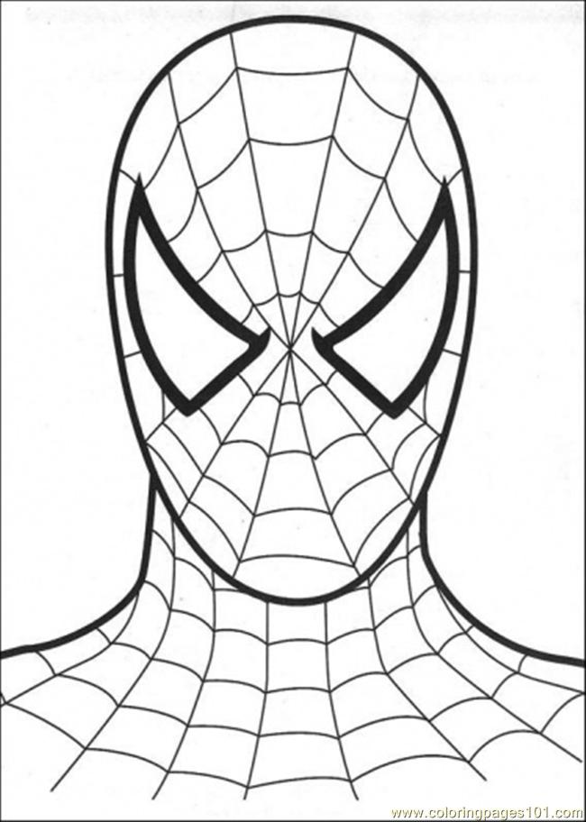 spiderman birthday coloring pages ; 14109-head-of-spiderman