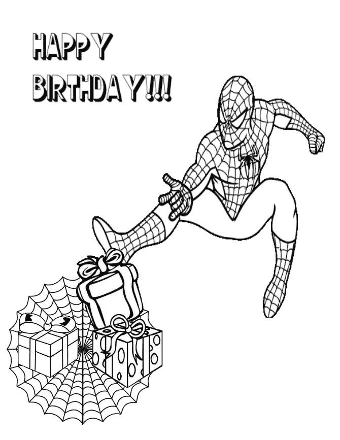 spiderman birthday coloring pages ; spiderman-happy-birthday-coloring-pages-spiderman-birthday-coloring-pages-101-birthdays