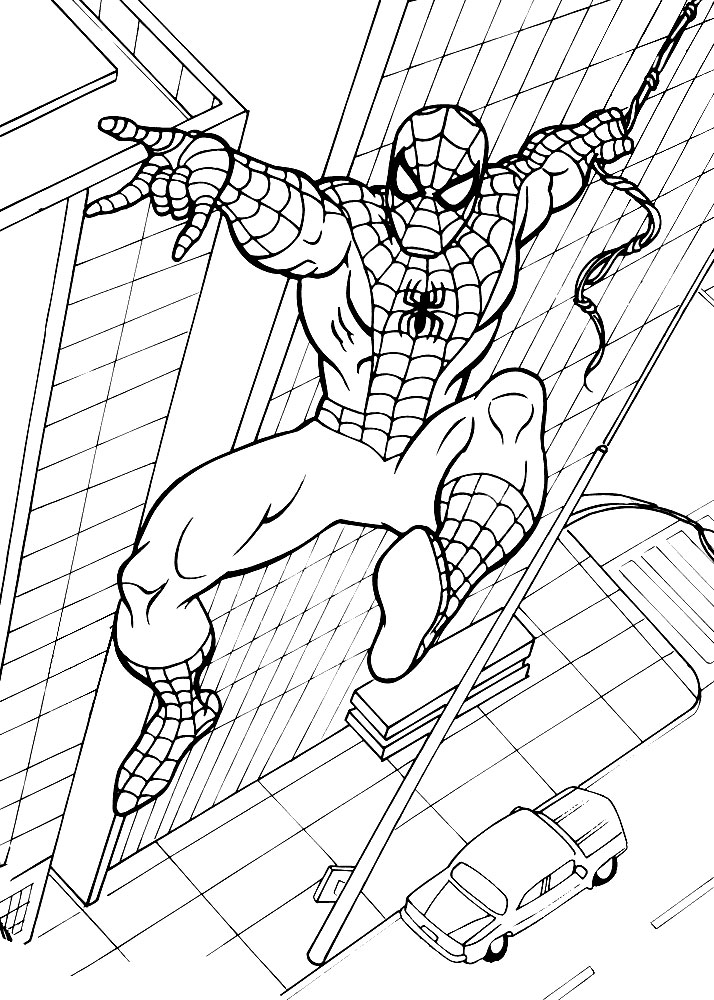 spiderman birthday coloring pages ; spiderman36