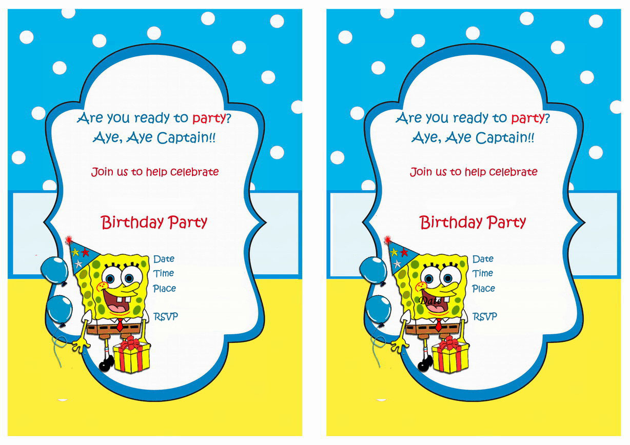 spongebob birthday party invitation wording ; spongebob-birthday-invitations-by-way-of-using-an-impressive-design-concept-for-your-winsome-Birthday-Invitation-Templates-16