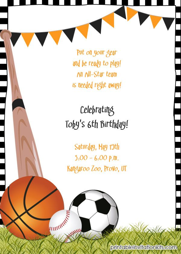 sports birthday party invitation template ; 1459863a7c246e771dc4cbf2fde83f1a