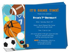 sports birthday party invitation template ; 6170288da9bc2384a307f0acc73adb4f--sports-birthday-sports-party