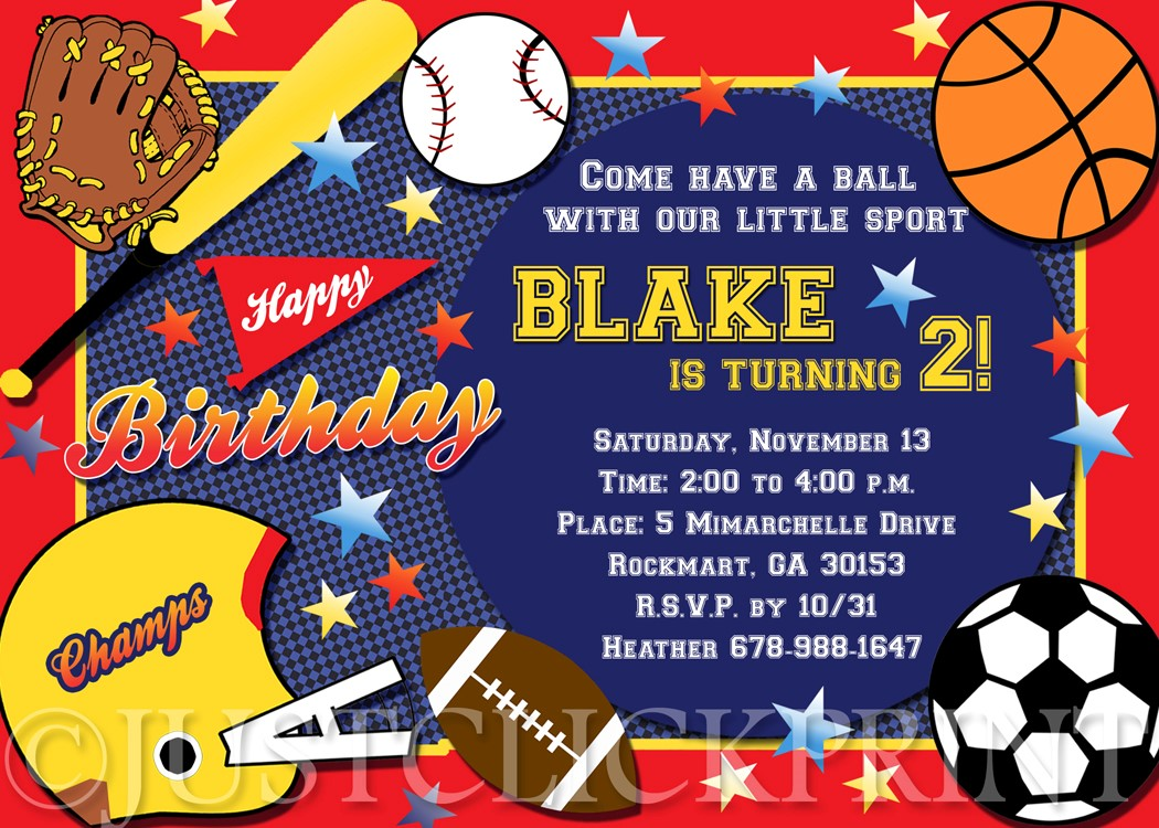 sports birthday party invitation template ; Fascinating-Sports-Themed-Birthday-Invitations-As-How-To-Make-A-Birthday-Invitation