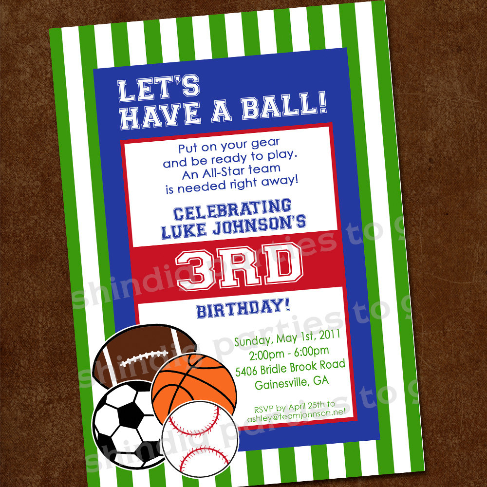 sports birthday party invitation template ; Marvelous-Sports-Birthday-Invitations-To-Make-Free-Birthday-Invitation-Templates