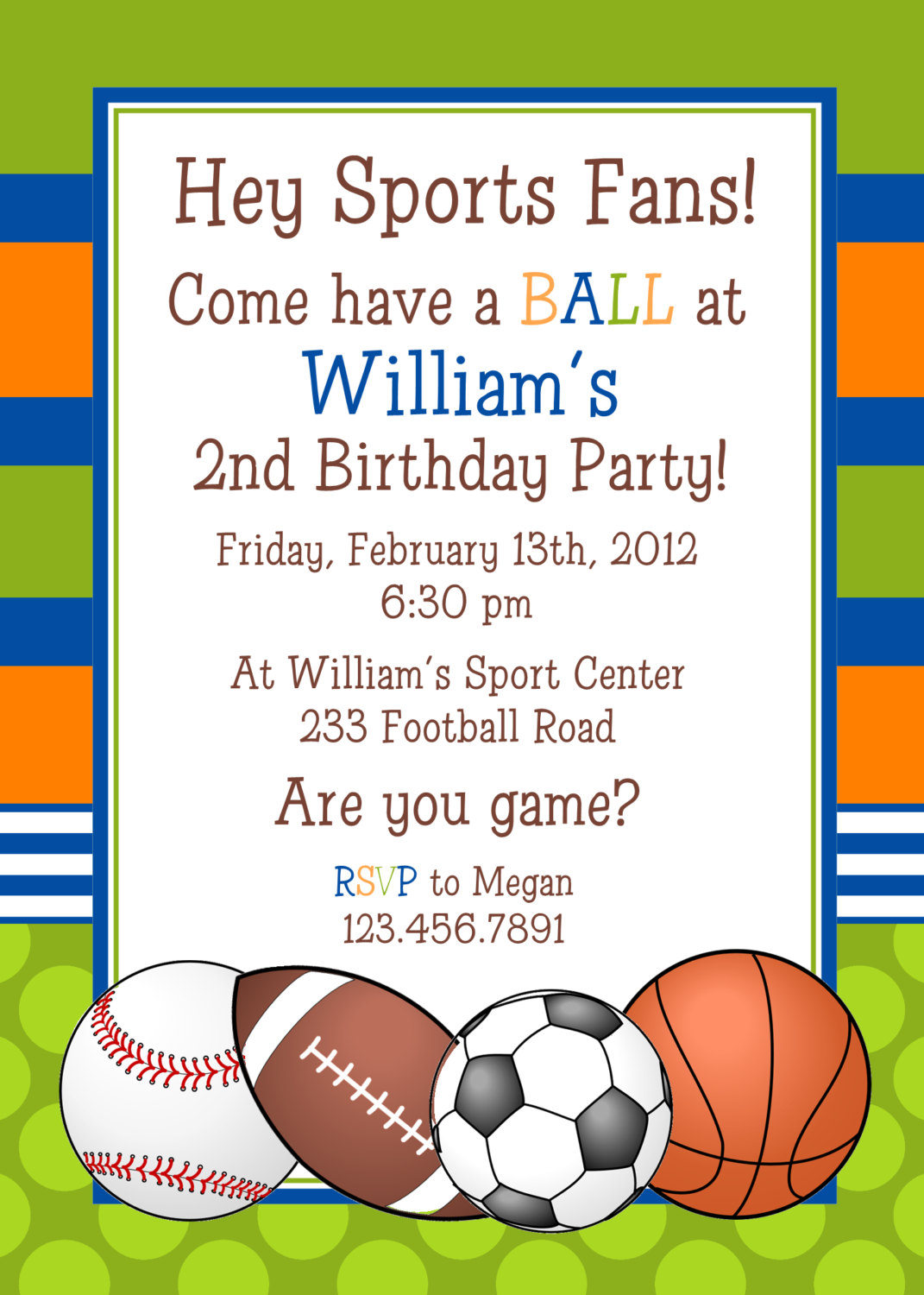 sports birthday party invitation template ; Sports-birthday-invitations-for-a-appealing-birthday-invitation-design-with-appealing-layout-1