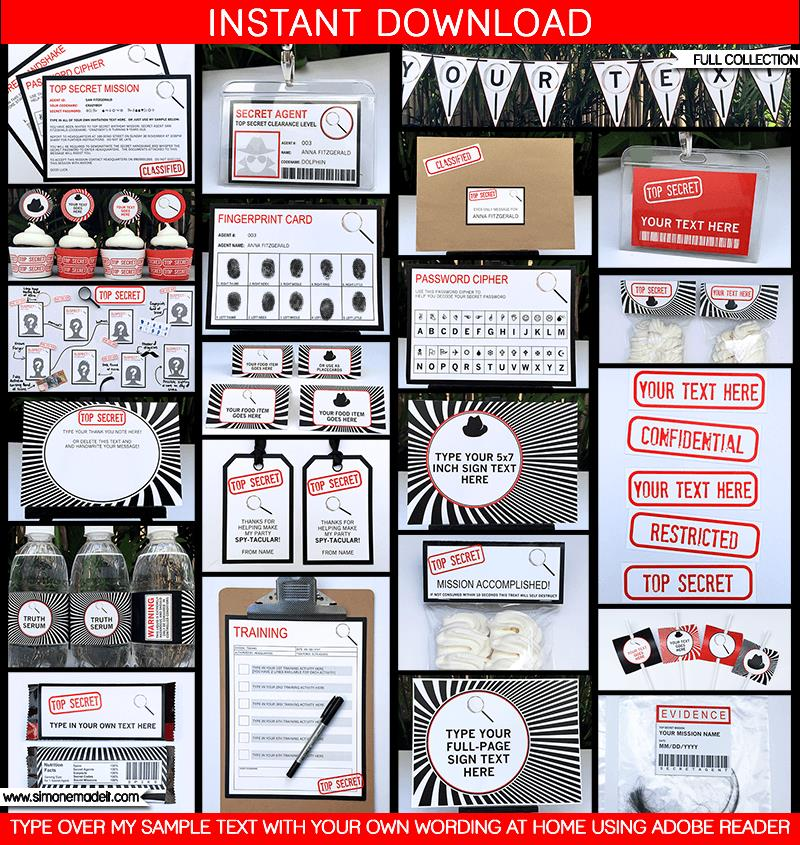 spy birthday party invitation template free ; Spy-Secret-Agent-Party-Printables-for-blog