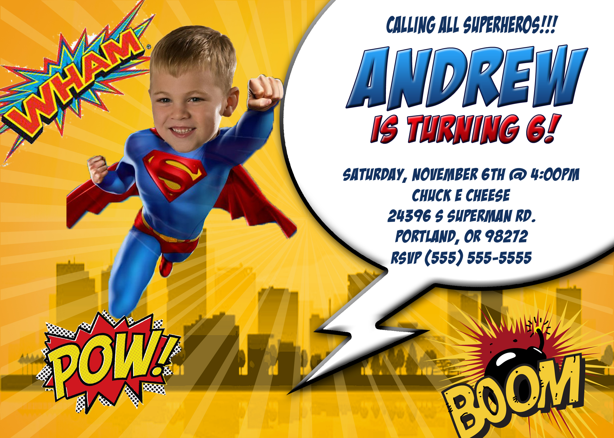 superman birthday invitation template ; Inspiring-Superman-Birthday-Invitations-As-Prepossessing-Ideas-Birthday-Party-Invitation-Template