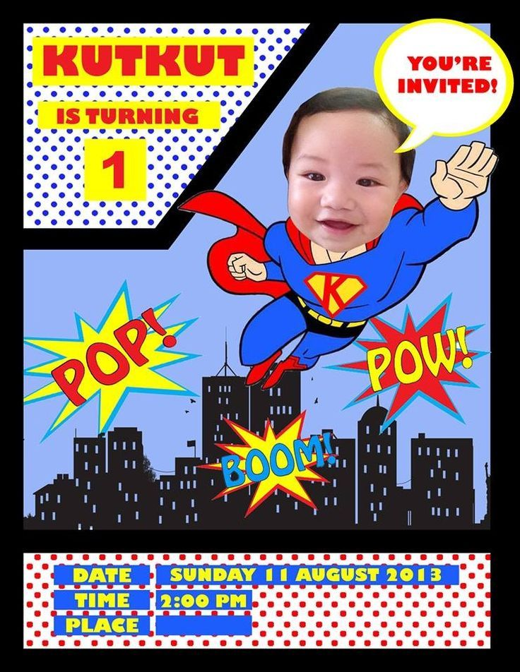 superman birthday invitation template ; a70cbb29cb5f6b12e0cc8b8ea41232ed