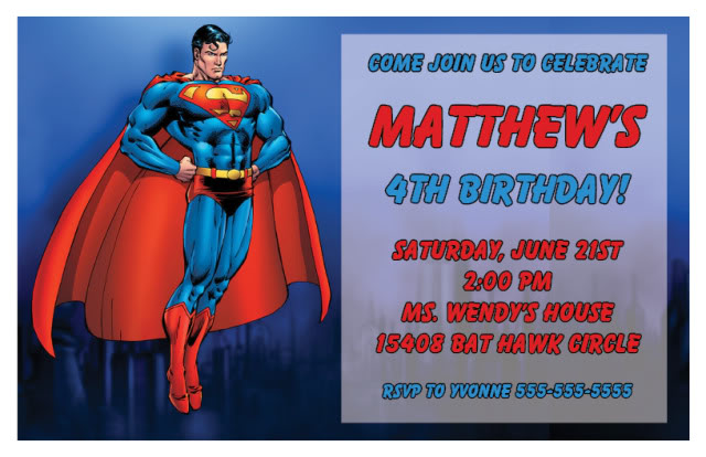 superman birthday invitation template ; free-superman-invitations-templates-superman-birthday-invitations-ideas-bagvania-free-printable-template