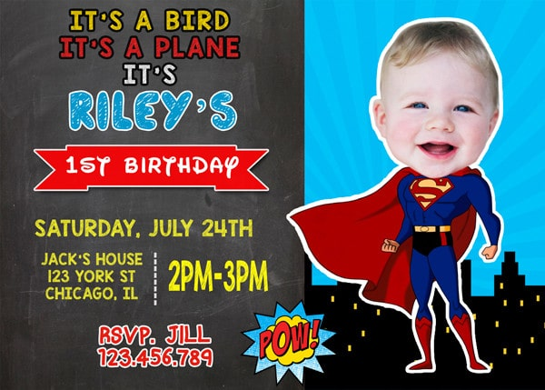 superman birthday invitation template ; superman-birthday-invitations-for-simple-invitations-of-your-Birthday-Invitation-Templates-using-glamorous-design-ideas-3