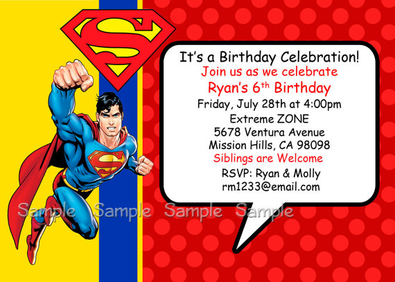 superman birthday invitation template ; superman-birthday-invitations-printable