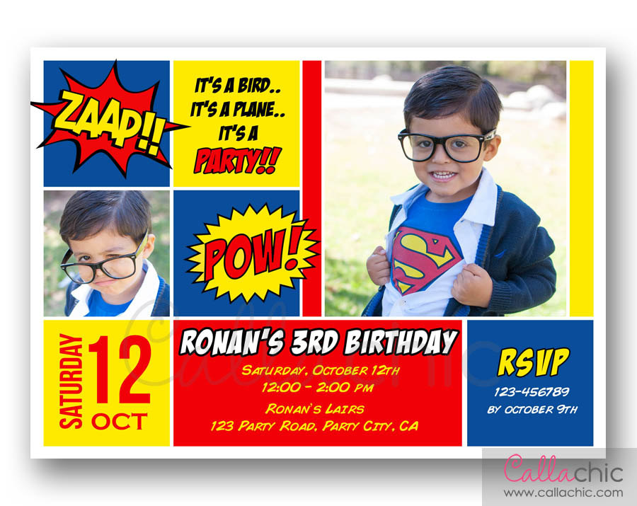 superman birthday invitation template ; superman-birthday-invitations-using-an-excellent-design-idea-aimed-to-prettify-your-Birthday-Invitation-Templates-12