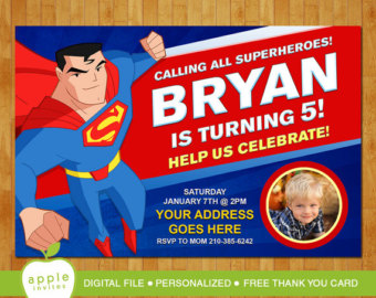 superman birthday invitation template ; superman-birthday-invitations-with-some-fantastic-invitations-using-stunning-layout-of-Birthday-Invitation-Templates-16