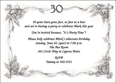 Surprise 30th Birthday Party Invitation Wording Th Ideal