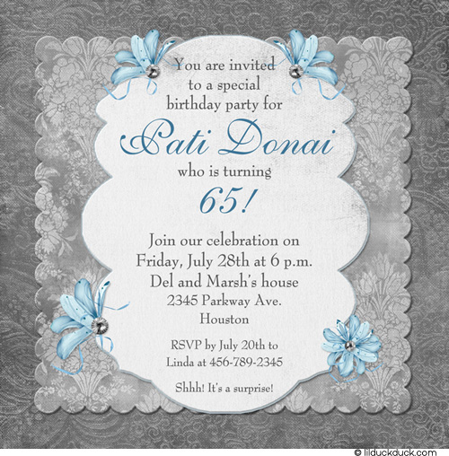 surprise 65th birthday invitation wording ; traditional-memories-birthday-invitation-womans-85th-65th-birthday-party-invitations