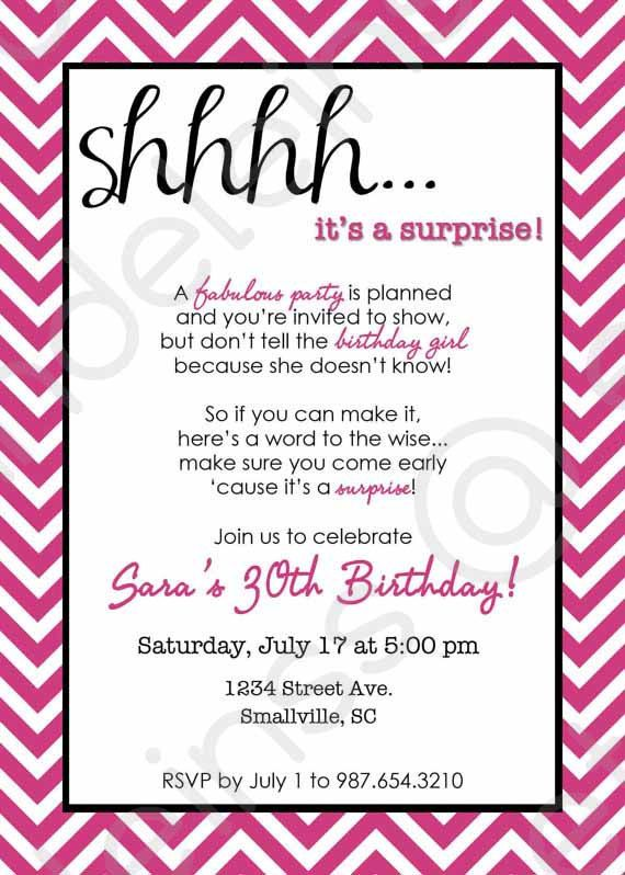 surprise birthday card template ; Excellent-Surprise-Party-Invitations-To-Create-Your-Own-Party-Invitation-Template