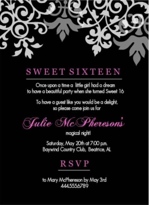 sweet 16 birthday invitation ideas ; Exciting-16Th-Birthday-Invitations-To-Create-Your-Own-Birthday-Invitation-Wording