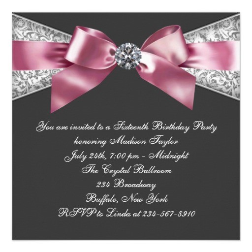 Sweet 16 Birthday Invitation Ideas Interesting Invitations