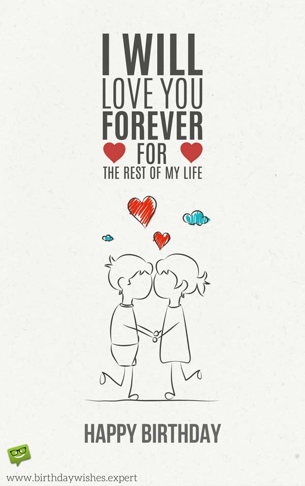 sweet birthday card messages for boyfriend ; Cute-birthday-wish-for-my-love-1