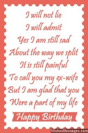 sweet birthday message for husband ; Sad-but-sweet-birthday-wish-to-ex-wife-from-husband-300x453