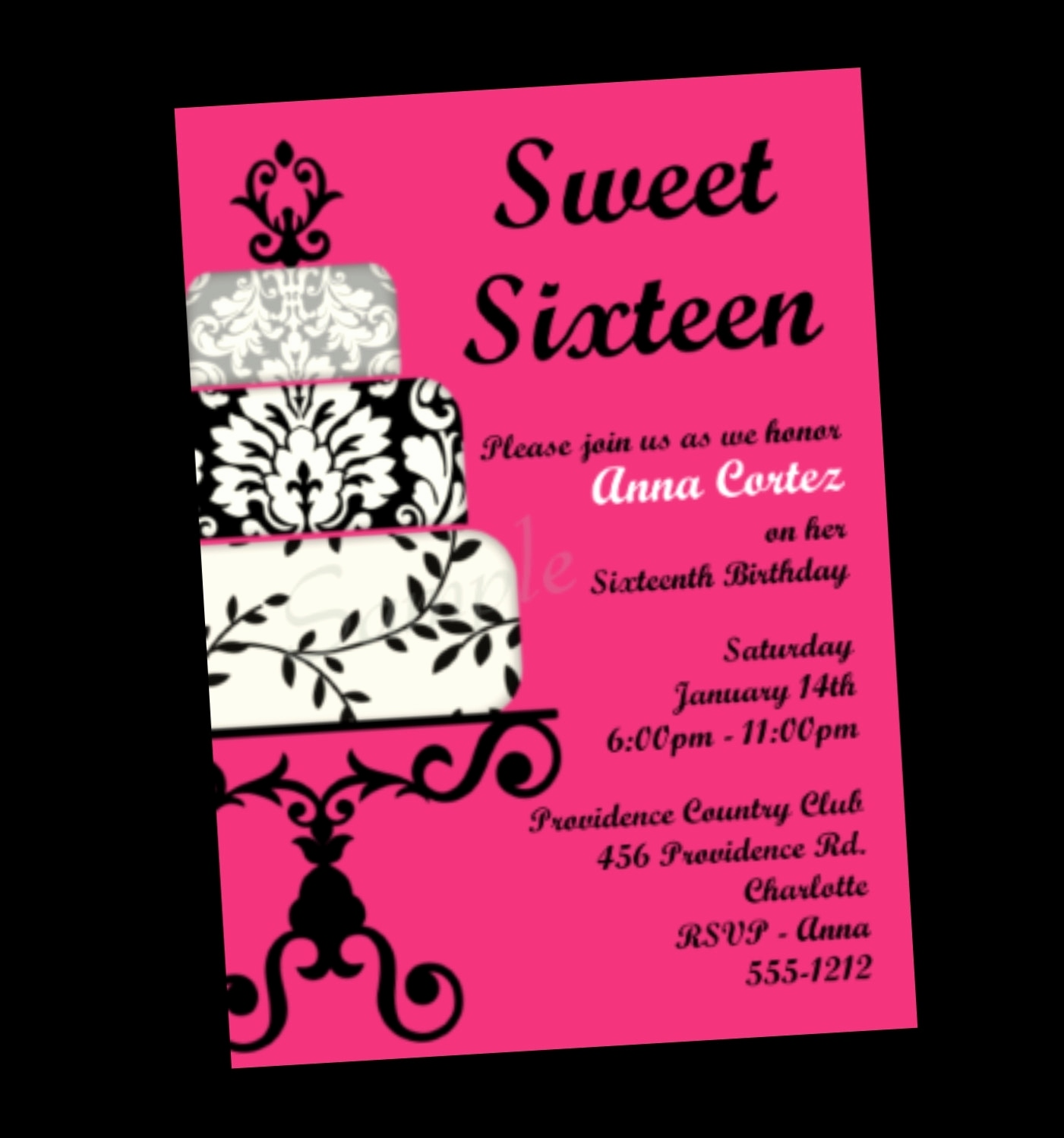 sweet sixteen birthday invitation cards ; invitation-card-for-surprise-birthday-party-lovely-sweet-16-party-invitations-of-invitation-card-for-surprise-birthday-party