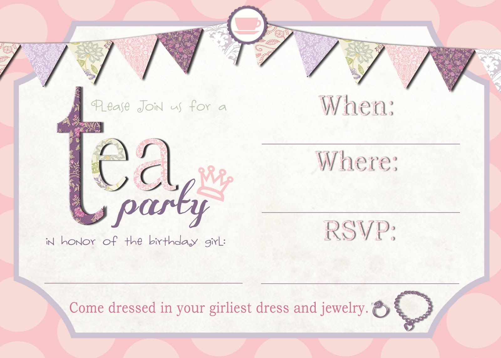 tea party birthday invitation template ; 63b323abb3e118e1557d00c0808ebf59
