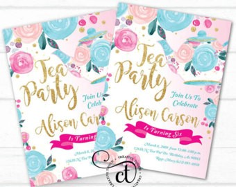 tea party birthday invitation template ; Extraordinary-Tea-Party-Birthday-Invitations-To-Design-Birthday-Invitation-Wording
