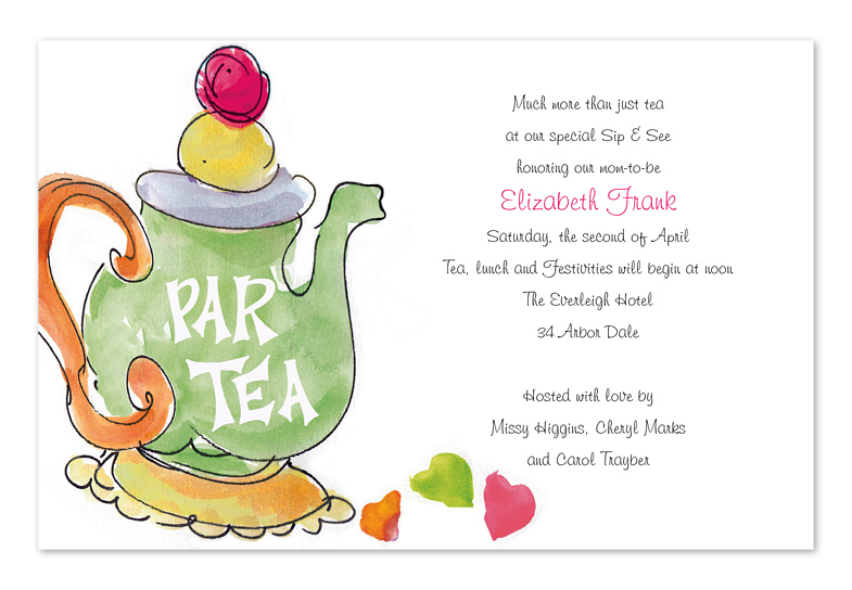 tea party birthday invitation template ; ICAD1256