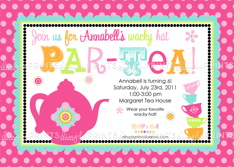 tea party birthday invitation template ; Tea-Party-Elegant-Tea-Party-Invitation