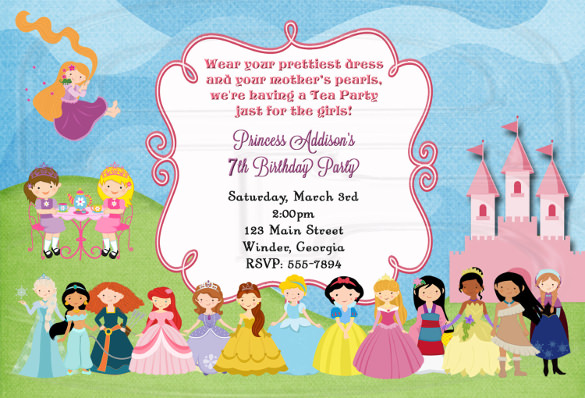 tea party birthday invitation template ; Tea-Party-Invitation-Birthday-Princess