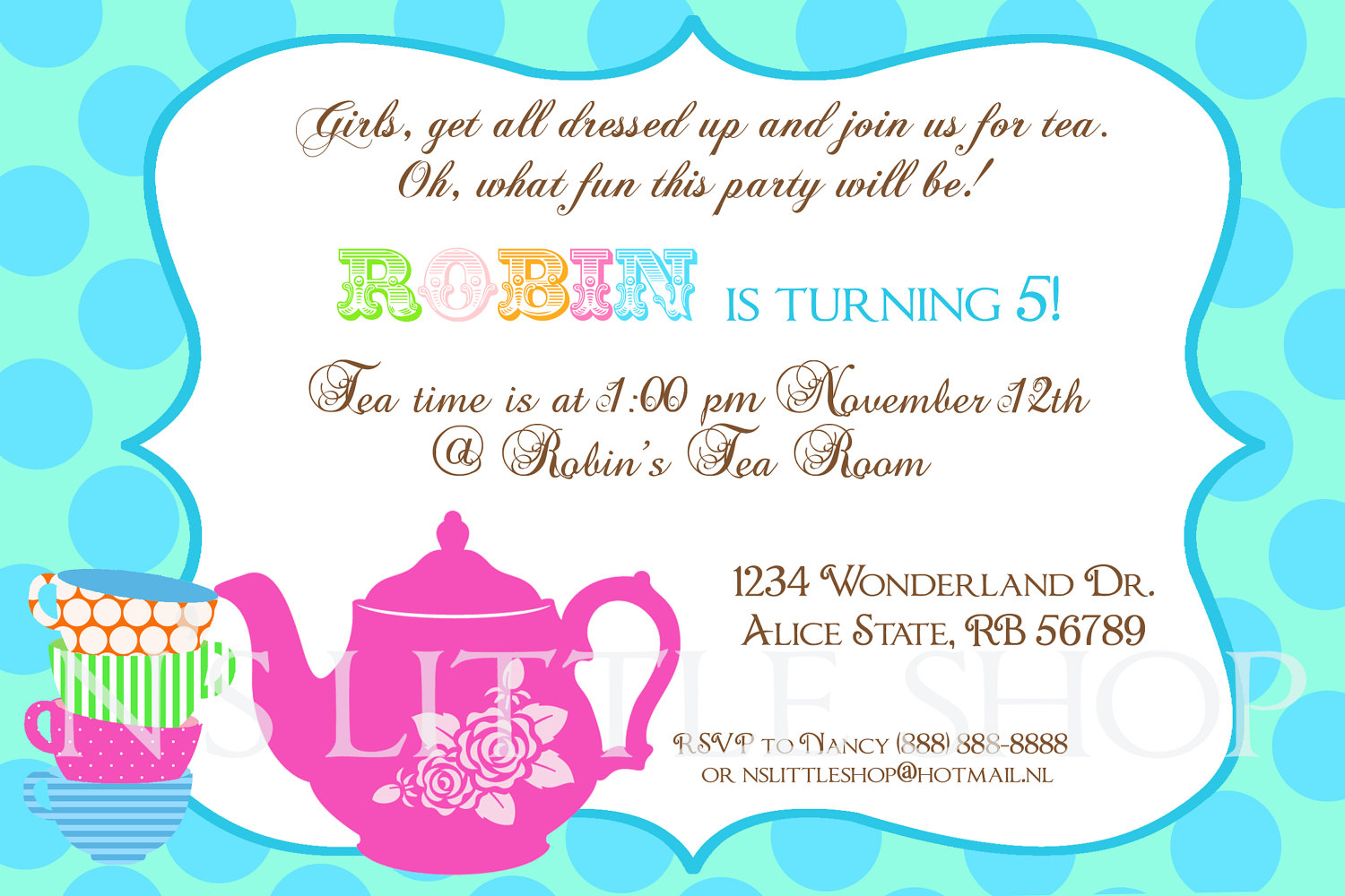 tea party birthday invitation template ; tea-party-invitation-wording-in-support-of-invitations-your-Party-Invitation-Templates-with-extraordinary-ornaments-9