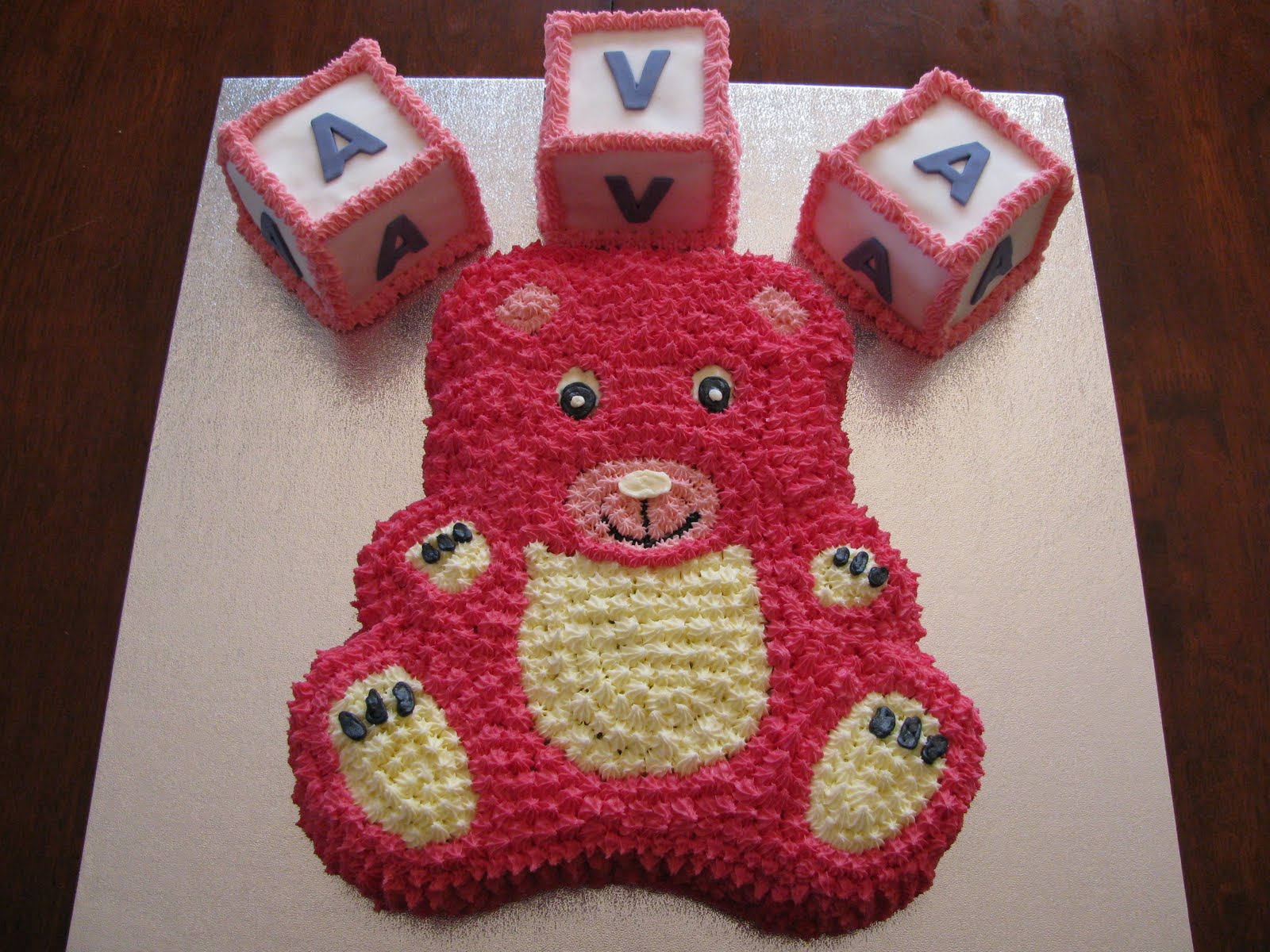 teddy bear birthday cake template ; IMG_1332