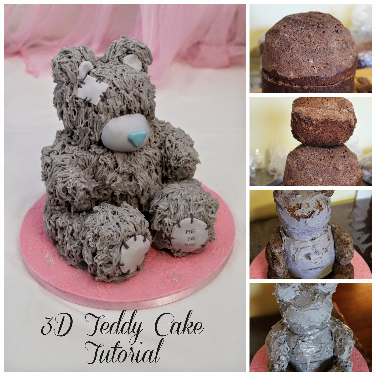 teddy bear birthday cake template ; PicMonkey+Collagepin