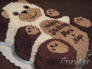 teddy bear birthday cake template ; bear_cake2