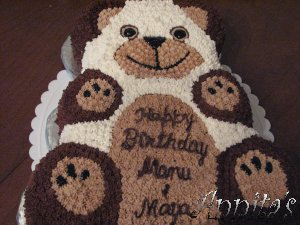 teddy bear birthday cake template ; bear_cake3