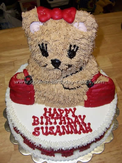 teddy bear birthday cake template ; free_cake_decorating_ideas_20