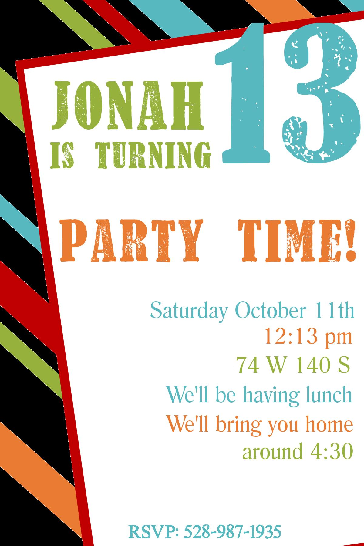 teenage birthday invitation templates ; 38cb2a487f67cb71e0aaf1db2685d9bb