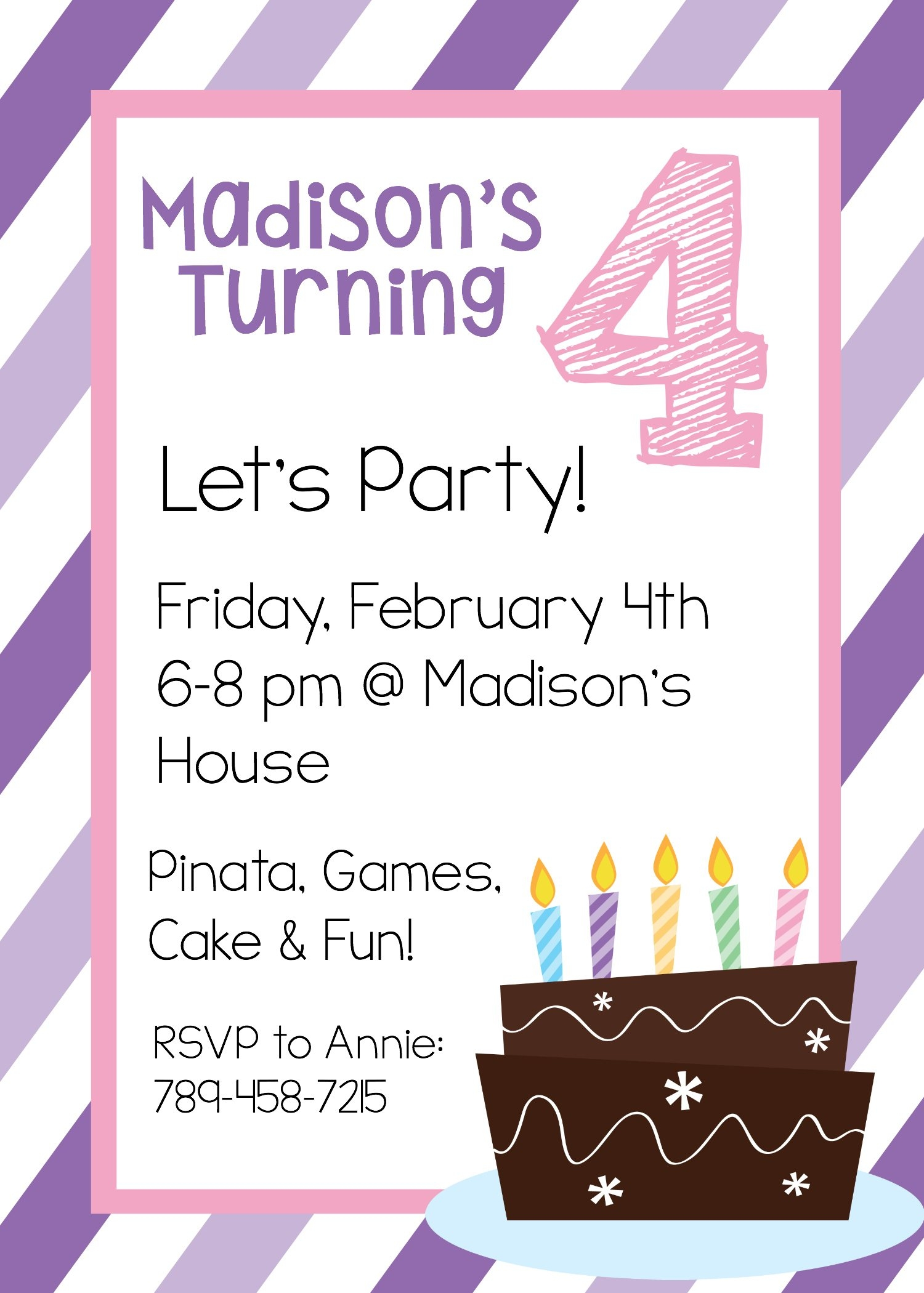 teenage birthday invitation templates ; free-printable-birthday-invitation-templates-within-girl-birthday-party-invitation-template