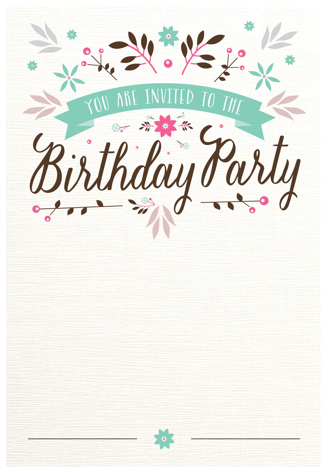 teenage birthday invitation templates ; teen-birthday-invitation-templates-unique-flat-floral-free-printable-birthday-invitation-template-of-teen-birthday-invitation-templates