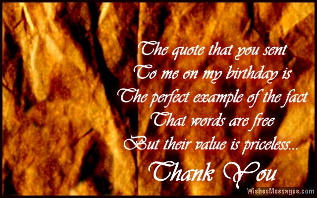 thank you for greeting my birthday quotes ; Beautiful-quote-to-say-thank-you-for-birthday-wishes
