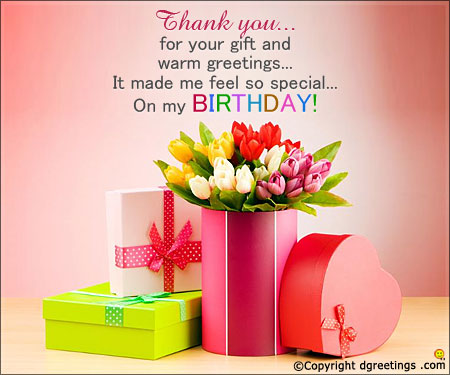 thank you for greeting my birthday quotes ; birthday-warm-greeting